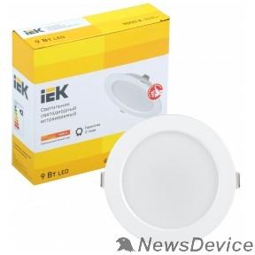 Коммерческое освещение Iek LDVO0-1612-09-3000-K01 Светильник LED ДВО 1612 белый круг 9Вт 3000К IP20 пластик. корпус, диам 118 мм