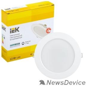 Коммерческое освещение Iek LDVO0-1613-12-4000-K01 Светильник LED ДВО 1613 белый круг 12Вт 4000К IP20 пластик. корпус, диам 145 мм