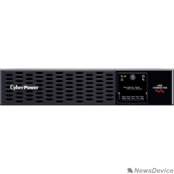 ИБП UPS CyberPower PR2200ERTXL2UA 2200VA/2200W USB/RS-232/EPO/Dry/SNMPslot (IEC C13 x 6, IEC C19 x 2) (12V / 6AH х 8)