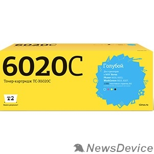 Расходные материалы T2 106R02760 Картридж (TC-X6020C) для Xerox Phaser 6020/6022/WorkCentre 6025/6027 (1000k) Cyan