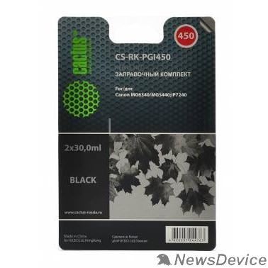 Расходные материалы Cactus CS-RK-PGI450 Заправочный набор для Canon MG6340/5440/IP7240, черный, 60мл