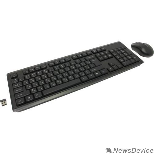 Клавиатура A-4Tech Клавиатура + мышь A4 V-Track 4200N клав:черный мышь:черный USB беспроводная 1147580