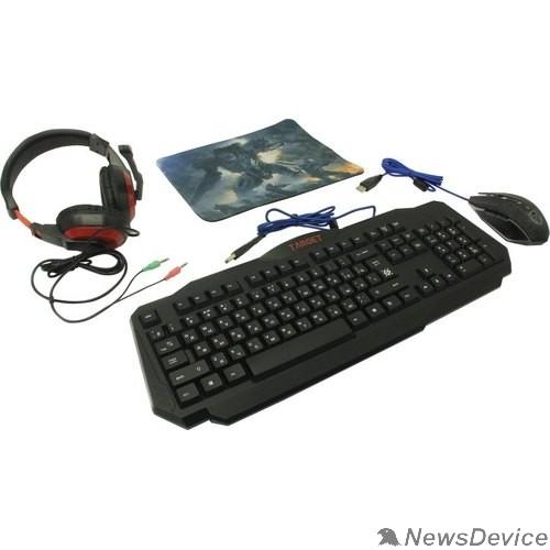 Клавиатура Defender Игровой набор Target MKP-350 52350 мышь+клавиатура+гарнитура+ков.
