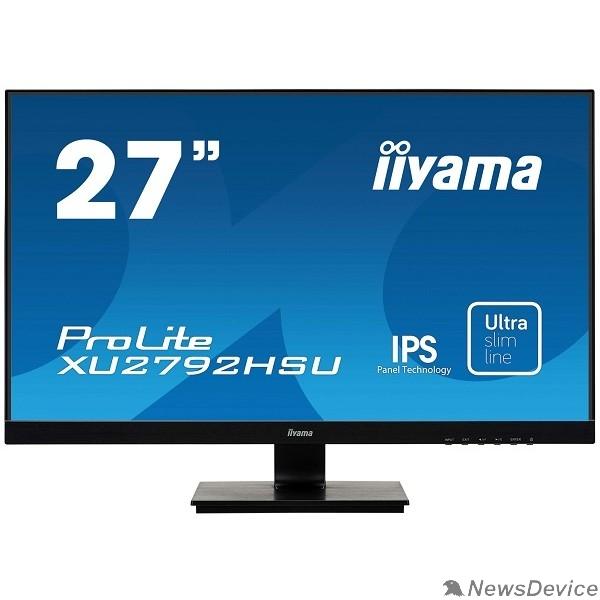 "Монитор IIYAMA 27"" XU2792HSU-B1 черный IPS 1920x1080 75Hz 4ms 250cd 1000:1 8bit(6bit+FRC) 178/178 D-Sub HDMI2.0 DisplayPort1.2 2xUSB2.0 VESA 2x2W AudioOut"