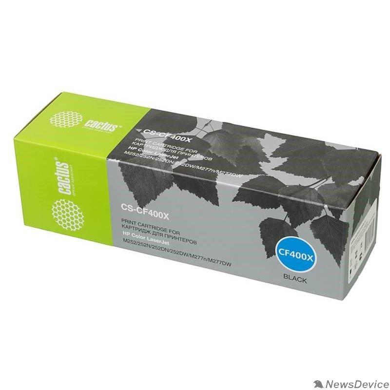 Расходные материалы Тонер Картридж Cactus CS-CF400X черный для HP CLJ M252/252N/252DN/252DW/M277n/M277DW (2800стр.)