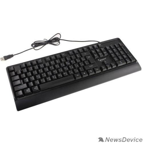 Клавиатура Клавиатура Gembird KB-220L с подстветкой, USB, черный, 104 клавиши, подсветка Rainbow, кабель 1.5м, водоотталкивающая поверхность