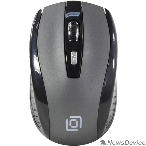 Мышь Oklick 635MB черный/серый оптическая (1600dpi) беспроводная BT (5but) 489350