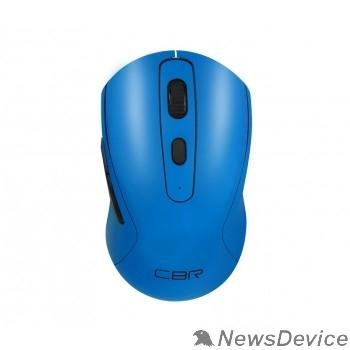 """Мышь CBR CM 522 Blue, Мышь беспроводная, оптическая, 2,4 ГГц, 800/1200/1600 dpi, 6 кнопок и колесо прокрутки, технология """"бесшумный клик"""", ABS-пластик, цвет голубой"""