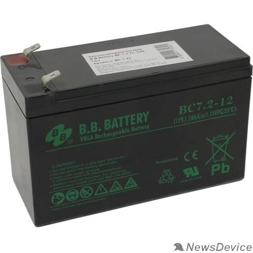 батареи B.B. Battery Аккумулятор BC 7.2-12  (12V 7,2Ah)