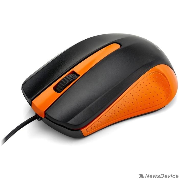 Мыши Exegate EX280437RUS Мышь Exegate SH-9030BO <black+orange, optical, 3btn/scroll, 1200dpi, USB>