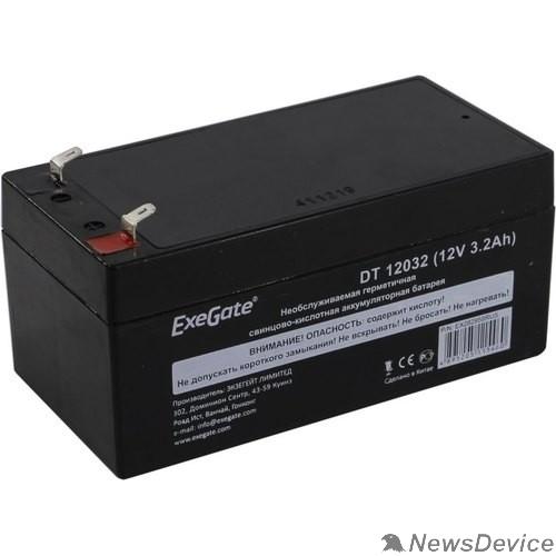 батареи Exegate EX282958RUS Аккумуляторная батарея DT 12032 (12V 3.2Ah, клеммы F1)