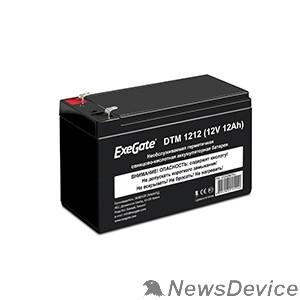 батареи Exegate EX282967RUS Аккумуляторная батарея DTM 1212 (12V 12Ah, клеммы F2)