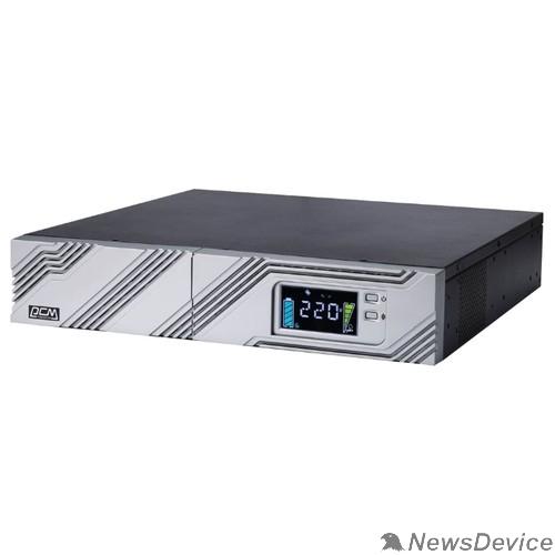ИБП UPS PowerCom SRT-1500A LCD Line-Interactive, 1500VA / 1350W, Rack/Tower, IEC, Serial+USB, SmartSlot, подкл. доп. батарей