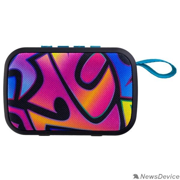 "Колонки Perfeo Bluetooth-колонка ""ZENS"" MP3, microSD, USB, AUX, мощность 3Вт, 500mAh, граффити"