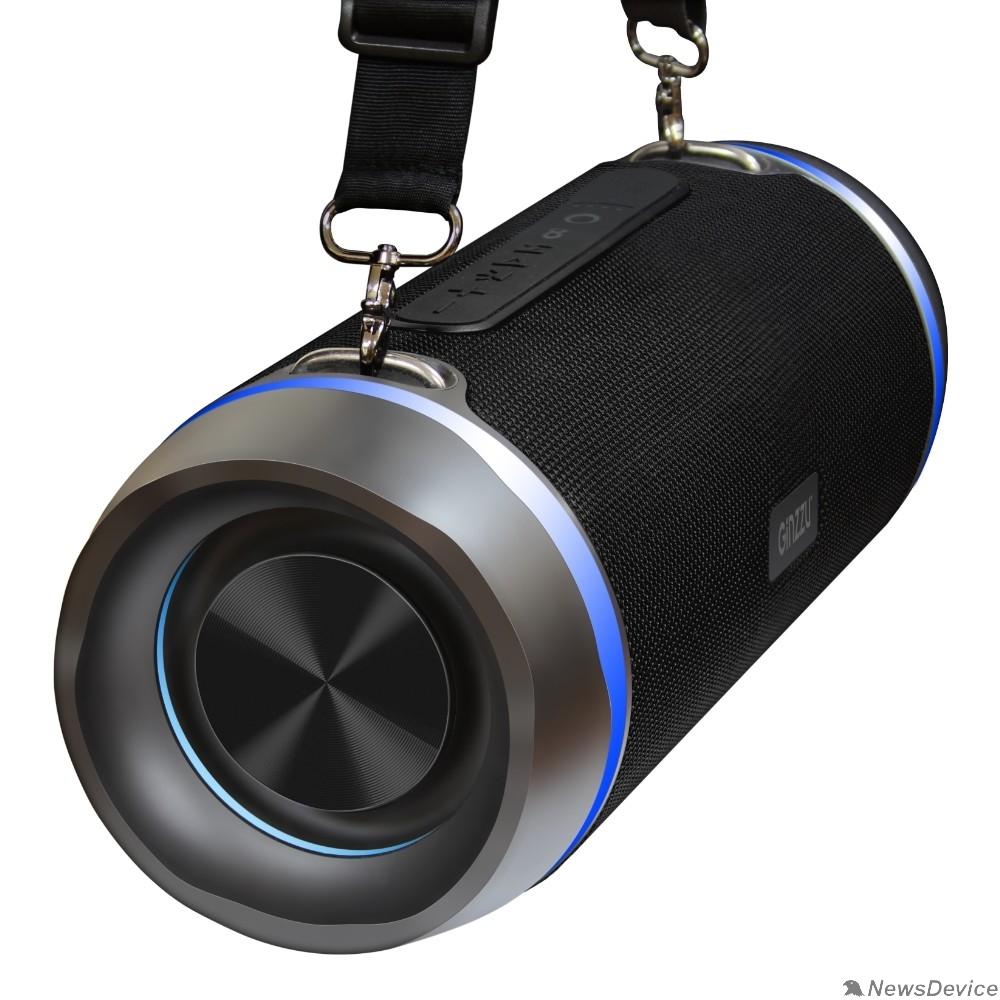 Колонки Ginzzu Ginzzu GM-901B, BT-Колонка 2x14W/TWS/USB/AUX/FM/IPX5