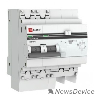 EKF Дифавтоматы EKF DA2-32-30-pro Дифференциальный автомат АД-2 32А/30мА (хар. C, AC, электронный, защита 270В) 4,5кА EKF PROxima