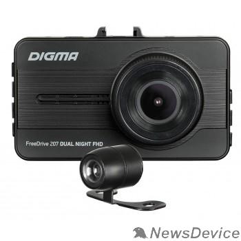Регистратор Видеорегистратор Digma FreeDrive 207 DUAL Night FHD черный 2Mpix 1080x1920 1080p 150гр. GP6248 1171718