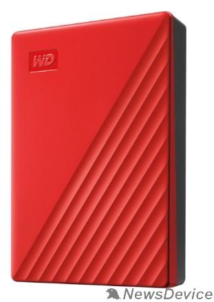 "Носитель информации WD My Passport WDBPKJ0040BRD-WESN 4TB 2,5"" USB 3.0 red"