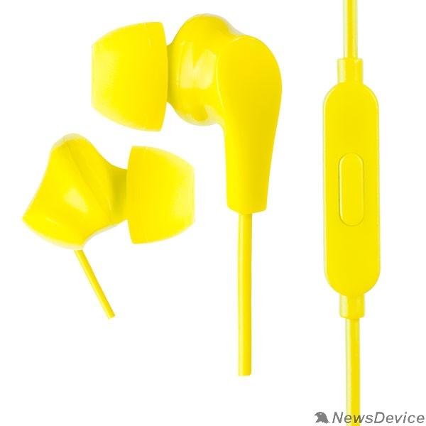 Наушники Perfeo наушники внутриканальные c микрофоном ALPHA желтые