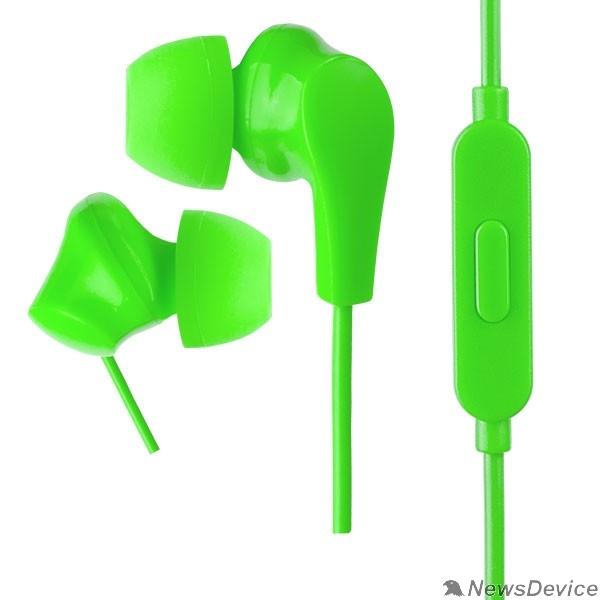 Наушники Perfeo наушники внутриканальные c микрофоном ALPHA зеленые