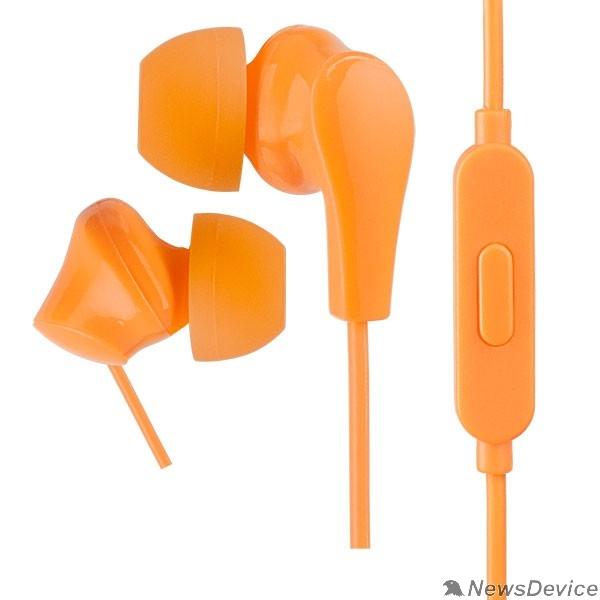 Наушники Perfeo наушники внутриканальные c микрофоном ALPHA оранжевые