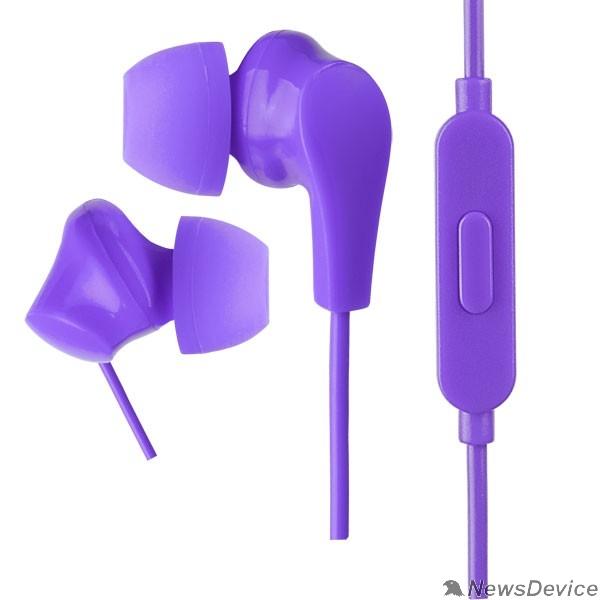 Наушники Perfeo наушники внутриканальные c микрофоном ALPHA фиолетовые