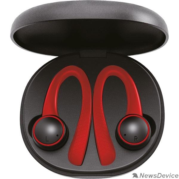 Наушники Perfeo наушники внутриканальные TWS ONLAY черные/красные автосопряжение PF_A4905