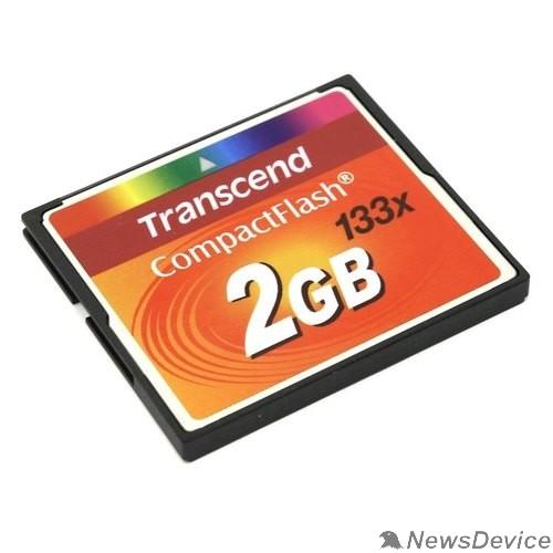 Карта памяти  Compact Flash 2Gb   Transcend  (TS2GCF133) 133-x