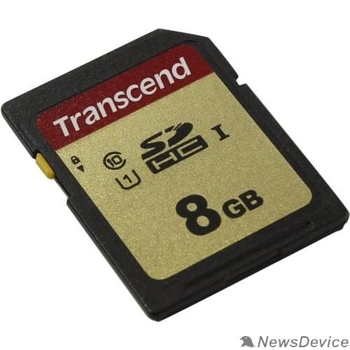 Карта памяти  SecureDigital 8Gb Transcend TS8GSDC500S SDHC Class 10, UHS-I