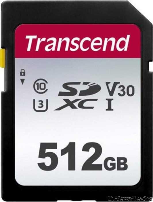 Карта памяти  SecureDigital 512Gb Transcend TS512GSDC300S SDXC Class 10, UHS-I U3