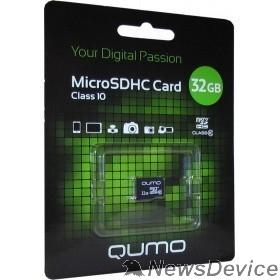 Карта памяти  Micro SecureDigital 32Gb QUMO QM32GMICSDHC10U1NA MicroSDHC Class 10 UHS-I