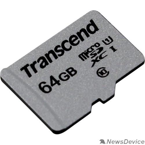 Карта памяти  Micro SecureDigital 64Gb Transcend Class 10 TS64GUSD300S MicroSDXC Class 10 UHS-I U1