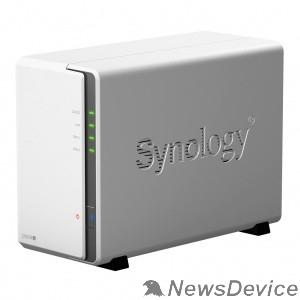 Дисковый массив Synology DS220j Сетевое хранилище, настольное исполнение 2BAY NO HDD USB3