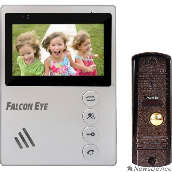 """Домофоны Falcon Eye KIT- Vista Комплект. Видеодомофон: дисплей 4"""" TFT;  механические кнопки; подключение до 2-х вызывных панелей; OSD меню; питание AC 220В (встроенный БП)"""