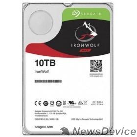 "Жесткий диск 10TB Seagate Ironwolf (ST10000VN0008) SATA 6.0Gb/s, 7200 rpm, 256mb buffer, 3.5"",для NAS"
