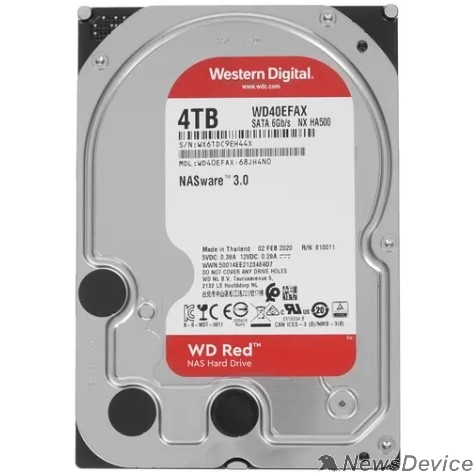 """Жесткий диск 4TB WD Red (WD40EFAX) Serial ATA III, 5400- rpm, 256Mb, 3.5"""""""