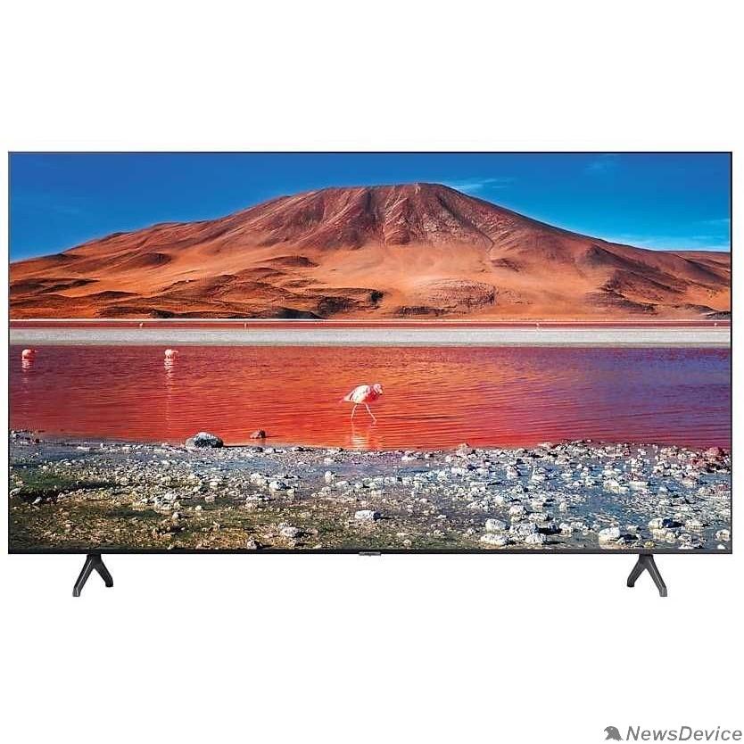 "Телевизор Samsung 43"" UE43TU7100UXRU черный Ultra HD/100Hz/DVB-T2/DVB-C/DVB-S2/USB/WiFi/Smart TV (RUS)"