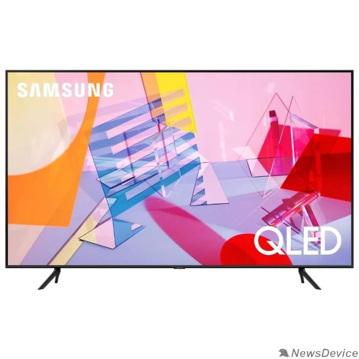 "Телевизор Samsung 43"" QE43Q60TAUXRU Q черный Ultra HD/1400Hz/DVB-T2/DVB-C/DVB-S2/USB/WiFi/Smart TV (RUS)"
