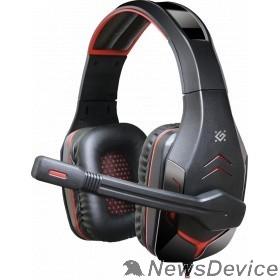 Наушники Defender Excidium красный + черный, кабель 2,2 м