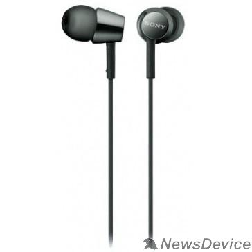 наушники Sony MDR-EX155AP 1.2м черный проводные в ушной раковине (MDREX155APB.E)