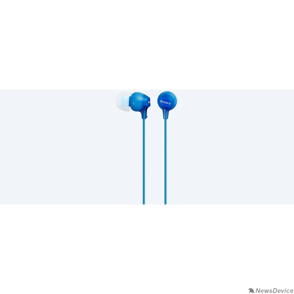 наушники Sony MDR-EX15LP 1.2м голубой проводные (в ушной раковине)