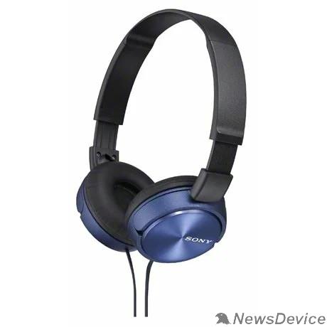 наушники Sony MDR-ZX310 1.2м синий проводные (оголовье)