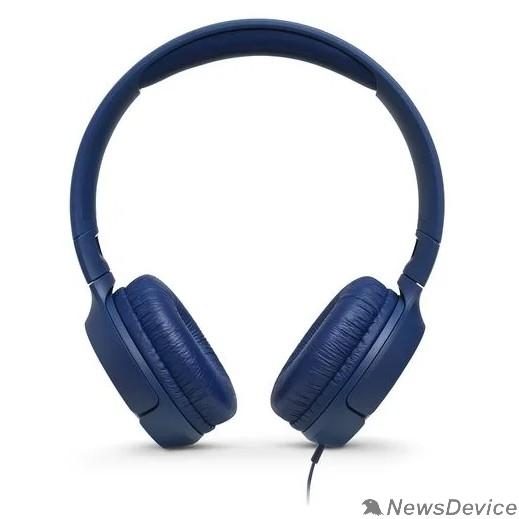 Наушники JBL Наушники накладные Т500, 32 Ом, синий JBLT500BLU