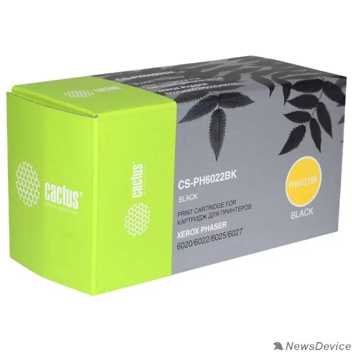 Расходные материалы Тонер Картридж Cactus CS-PH6022BK 106R02763 черный для Xerox Phaser 6020/6022/WC6025/6027 (2000стр.)