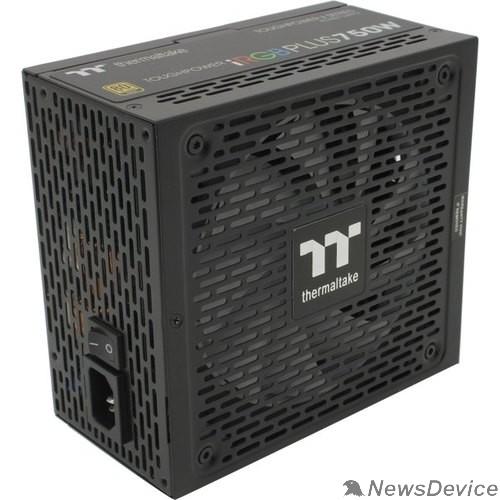 Блок питания Блок питания Thermaltake ATX 750W Toughpower iRGB Plus 80+ gold (24+4+4pin) APFC 140mm fan color LED 9xSATA Cab Manag RTL PS-TPI-0750F3FDGE-1
