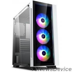 Корпус Deepcool MATREXX 55 V3 ADD-RGB WH 3F ATX, RGB  ATX, RGB strip, Стекл. фронтальная и боковая панели, 3RGB fans,Без БП