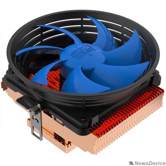 Вентиляторы PCCooler Q100M V2 Кулер S775/115X/AM2/AM3/AM4/FM1/FM2 (60 шт/кор, TDP 75W, вент-р 100мм с PWM, 1200-2000RPM, 16-20dBa) Retail Color Box