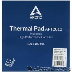 Термопаста Термопрокладка Thermal pad Basic 100x100 mm/ t:1.0 Pack of 4 (ACTPD00021A)