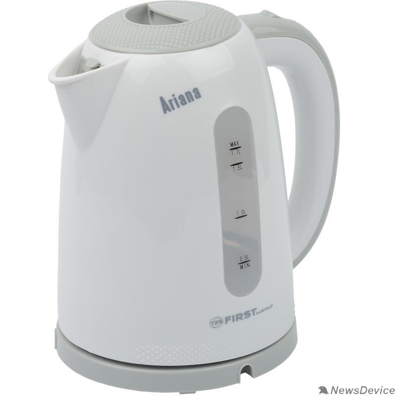 Чайник FIRST FA-5427-2-GR 5427-2-GR Чайник , пластиковый, 1.7 л.Мощность: 2200 Вт.Нагревательный элемент: диск