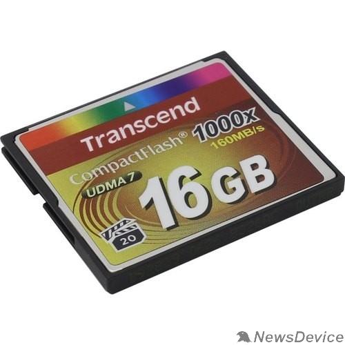 Карта памяти  Compact Flash 16Gb Transcend 1000X TS16GCF1000